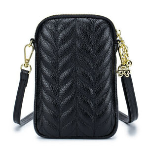 Women's Real Leather Phone Purse Wallet Ladies Cellphone Crossbody shoulder bag