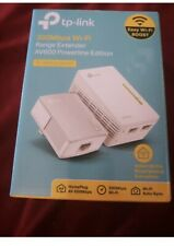 TP Link AV600 Powerline 2-Pack Kit 300Mbps WiFi Extender with 2 Ethernet cables