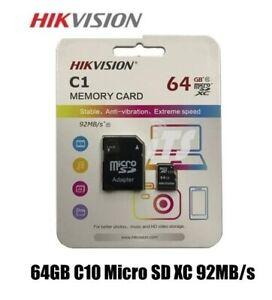 MICRO SD 64GB HIKVISON CON ADATTATORE