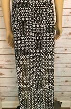 Vince Camuto Womans Maxi Skirt Sheer With Mini Skirt Black White Career Work 2