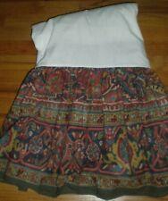Ralph Lauren Oxfordshire Southwestern Queen Bed Skirt Combed Cotton Seconds