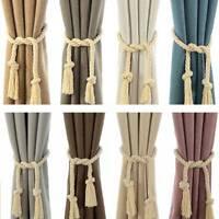 2Pcs  Home Decor Window Curtain Drapery Tassel Rope Tie Back Holdback Fringe Hot