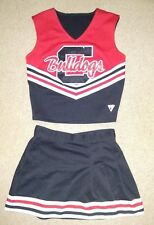 Real Authentic Genuine CHS Bulldogs Cheerleading Uniform Cheer Black Red Varsity