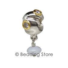 NEW Pandora Gold Silver Chalcedony Lavender CZ Cubic Zirconia Charm 790358LCZ