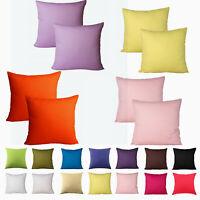 Solid Colour Cotton Canvas Cushion Cover Home Decor Pillow Case Lounge 3 Size