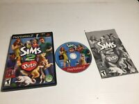 The Sims 2 Pets Complete CIB Game Case Manual PS2 Playstation