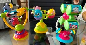 3 x Baby Colourful High Chair Suction Toys  *EXCELLENT CONDITION * 😊