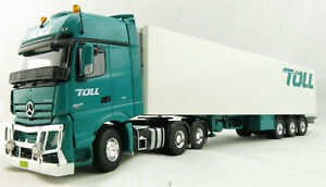 Road Ragers AUSTRALIAN Toll Mercedes Actros 6x4 Prime Mover Reefer Trailer 1:50