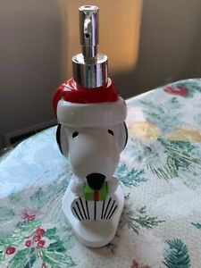 Christmas Snoopy Peanut Holiday Bathroom Lotion Soap Pump Dispenser New Light Up