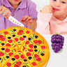 Kids Pretend Play Pizza Fake Food Kitchen Children Cooking Cutting Gift 6pcs Toy