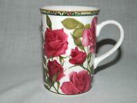 Red Roses Chintz Tea Coffee Mug Royal Bone China Collector Series NEW Unused