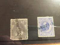 Netherlands early stamps with lang stempels incl middelharnis and groot-e