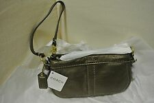 COACH Zoe Antique Gold Leather Wallet Wristlet Gold Hardware 41863 NEW $128