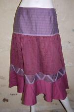 UN DEUX TROIS 1-2-3  Taille 42 Superbe jupe rose mauve skirt falda rock