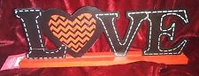 Wood Plaque Home Decoration- Love Themed - Black Letters