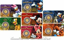 2016 Niue Proof Gold 9999 .5g Disney Friends Mickey Minnie Scrooge McDuck ~ Set