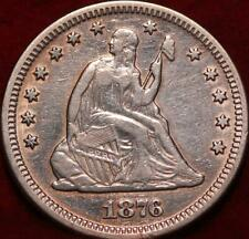 1876 Philadelphia Mint Silver Seated Liberty Quarter