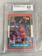 1986-87 Fleer #130 Orlando Woolridge BGS 6.5 original Chicago Bulls