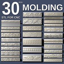 3d stl model cnc router artcam aspire 30 pcs molding