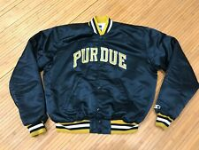 LARGE - Vtg NCAA Purdue Boilermakers Starter Sewn Quilted Snap Jacket USA