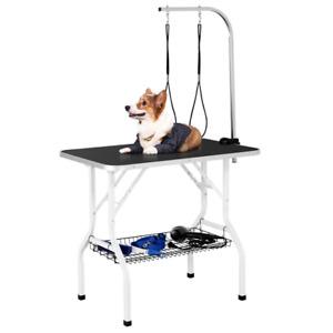 Trimmtisch mit Unterkorb Hundepflegetisch Pflegetisch für Haustier Schertisch