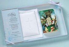 Lillian Rose Baby Keepsake White Bible W/Cotton Cover Set 24CO820 Giftbox Damage