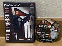 The Punisher (Sony PlayStation 2, 2005) Game Only With Case No Manual PS2 Tested