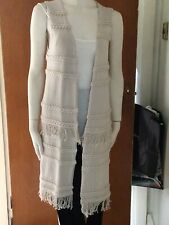 Colette Designer Beige Long Knitted Gilet New With Tags