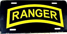 License Plate Military U.S. Army Rangers New auminum Auto Tag made in USA 0110