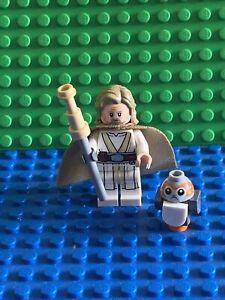 Lego Star Wars Luke Skywalker Old Jedi Master Minifigure SW0887 75200.rare