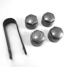 4x Original Loking Type Wheel Lug Nut Center Cover Caps +Tools For VW AUDI Skoda