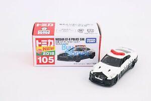 Takara Tomy Tomica #105 Nissan GT-R Police Car Scale 1/62 Diecast Car Toy