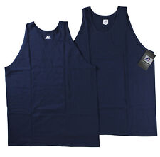 Russell Athletic Big Men 100% Cotton Tank Top Sleeveless T Shirt Navy 4XL