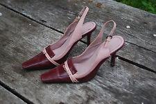 Nine West  Slingback  Heels Pumps Light Pink Rasberry Wine Red Sz 7.5 M