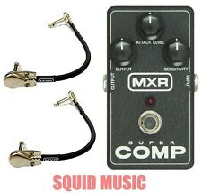 Mxr Dunlop Super Comp M-132 Compressor Guitar Effect M132 ( 2 Mxr Cables )