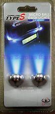 Micro Ball Adjustable Dash Lights Blue LED Plug In 12V Accessory Lighter Socket
