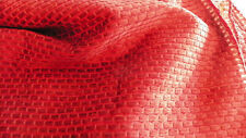 Canyon Red Hobnail Print Chenille Upholstery Fabric Remnant F517