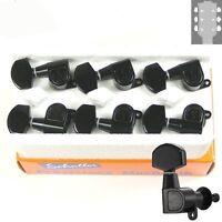 Schaller M6 L180 Standard Buttons Tuners, 3x3 Black, 10010423