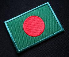 BANGLADESH BANGLADESHI NATIONAL FLAG Sew on Patch Free Postage