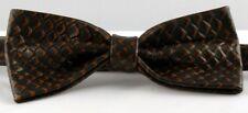 Exquisite, Elegant Handmade Brown Rattlesnake Print Leather Bow Tie. Sale £15.99