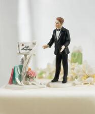 Still Shopping Message Caucasian Wedding Cake Topper