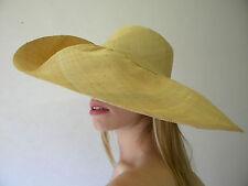 Sombrero de verano NUEVO mujer Natural Avena Floppy hecho a mano rafia