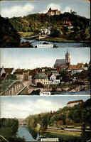1911 color Mehrbild-AK Sachsen mit PENIG, Rochsburg und Wolkenburg alte AK