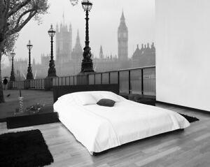 "Fototapete ""London Fog""  England London Big Ben Format 366 x 254cm XXL, 8 teilig"