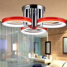 Flash Sale Modern Crystal LED Ceiling Light Pendant Flush Lamp Fixture Red Round