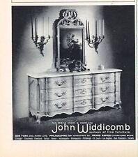 1962 John Widdicomb  PRINT AD Furniture features: Dresser and Mirror
