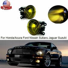 Pair Golden Yellow Fog Light Bumper Lamps H11 Bulb For  Honda/Acura Ford Nissan