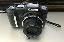 Canon PowerShot SX160 IS 16.0MP Digital Camera - Black (6354B001) with case