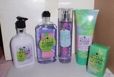 BATH AND BODY WORKS APPLE BLOSSOM & LAVENDER 5 PC SOAP, MIST, LOTION, BODY CREAM
