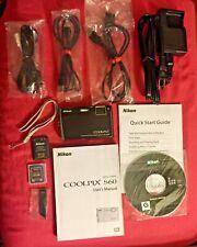 COOLPIX S60 NIKON BLACK Digital Camera 10.0 Megapixels Orig Box All Accessories